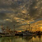 September Sunset in Steveston, BC by Marcel Pepin