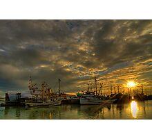 September Sunset in Steveston, BC Photographic Print