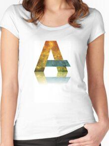 Alphabet A Women's Fitted Scoop T-Shirt