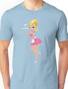 50's Retro Diner Girl Unisex T-Shirt