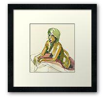 Green Blond Framed Print