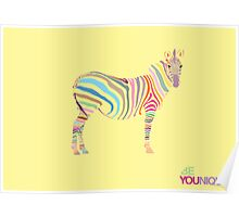 Younique Zebra Poster
