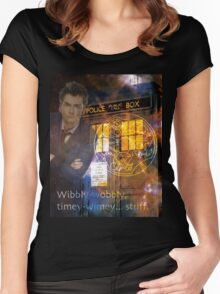 10th Doctor Who David Tennent Women's Fitted Scoop T-Shirt