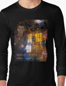 10th Doctor Who David Tennent Long Sleeve T-Shirt