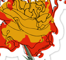 Lava Rose Sticker