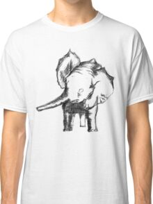 Sketched Elephant Classic T-Shirt