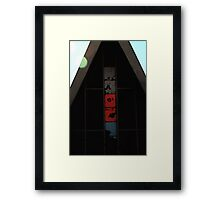 Red White and Blue A Frame Colors Framed Print
