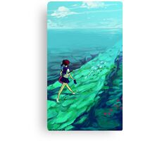 Ocean Path Canvas Print