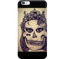 girl skull iPhone Case/Skin