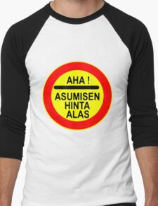 AHA! Asumisen Hinta Alas Men's Baseball ¾ T-Shirt