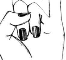 'I Dont Care' Rock On Tumblr Hand Symbol Sticker