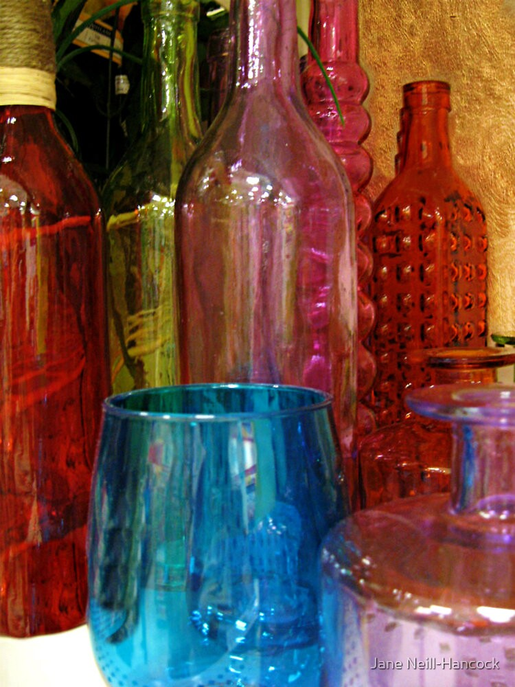 A Rainbow of Bottles for Sale by Jane Neill-Hancock