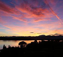 Sunset over Lago Varese by ShelleyB
