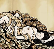 Fishmonger's Wife (Hokusai reproduction) by ZugArt