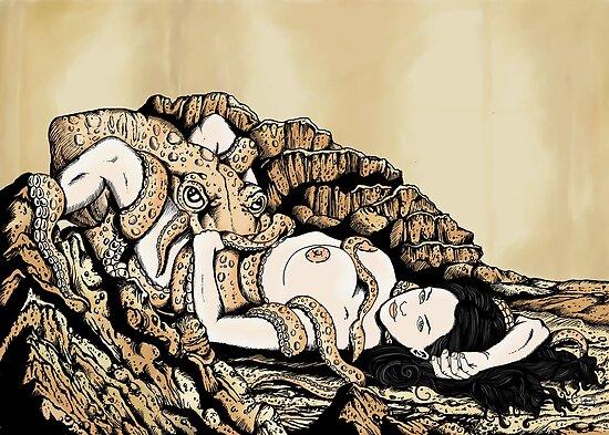 Fishmonger's Wife (Hokusai reproduction) by ZugArt