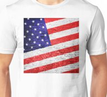 American Flag Urban Art Unisex T-Shirt