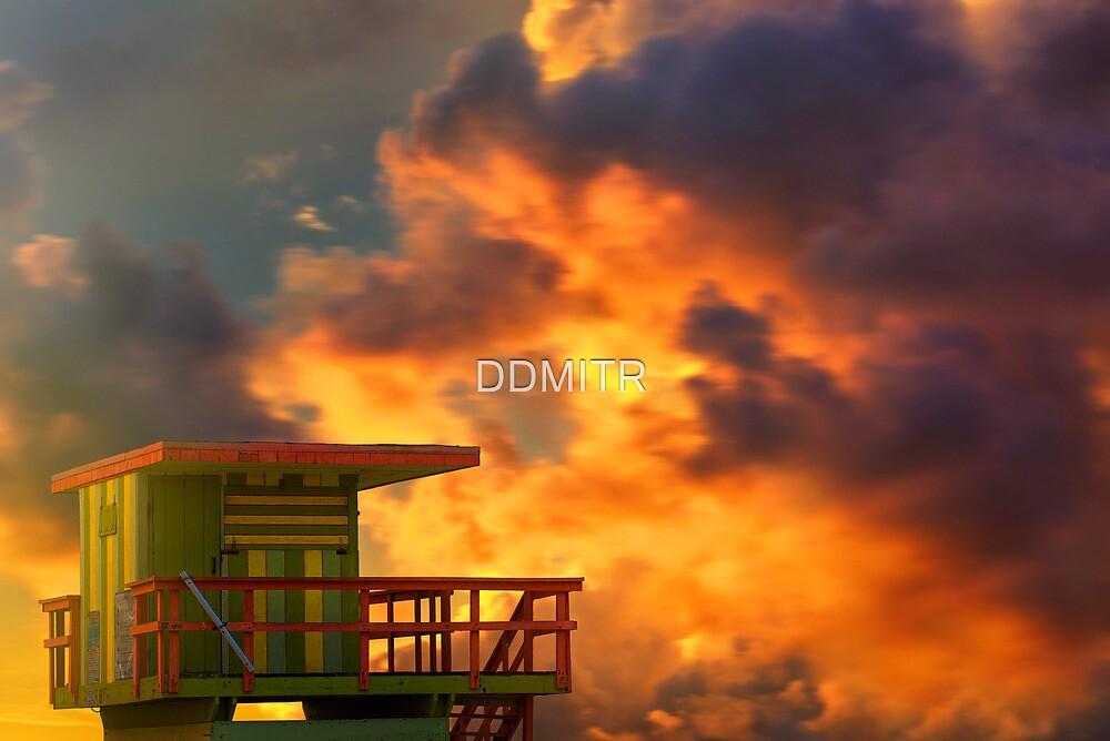 Miami Beach Sunset by DDMITR