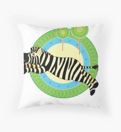 Zebra jumps Throw Pillow