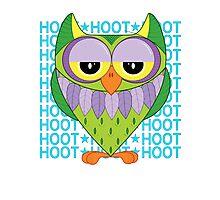Owl - hoot, hoot Photographic Print