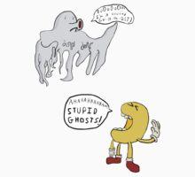 Pac-Man & A Ghost, Random Weirdos Style! - Double Sticker Set [2 count] by vigorousjammer