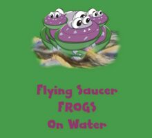 Flying Saucer Frogs on Water T-shirt Kids Tee