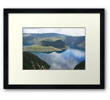 Clouds and Islands Reflected in Water Framed Print