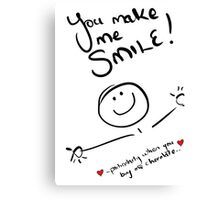 You make me smile - chocolate Canvas Print
