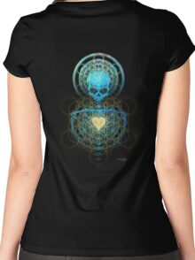 Visionary Skull  Women's Fitted Scoop T-Shirt