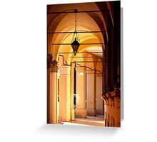 Portico di Bologna Greeting Card