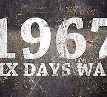 1967 SIX DAYS WAR - grunge design by darweeshq
