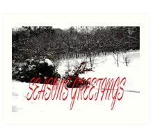 SEASONS GREETINGS 41 Art Print