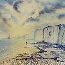 Twilight Stroll - Bridlington Beach by Glenn Marshall