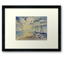 Twilight Stroll - Bridlington Beach Framed Print