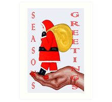SEASONS GREETINGS 50 Art Print