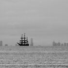 Tall Ship passes Melbourne by Paulscho