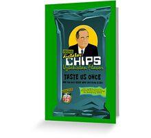 Dictator Chips Uzbekistan Flavor Greeting Card