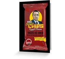 Dictator Chips Egypt Flavor Greeting Card