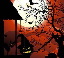 Halloween on Bloody Moonlight Nightmare by BluedarkArt