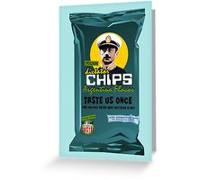 Dictator Chips Argentina Flavor Greeting Card