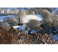 A village church in the snow Photographic Print