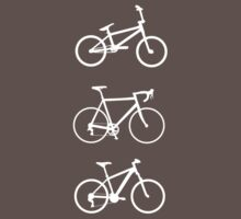 Bicycles (white) by hellomrdave