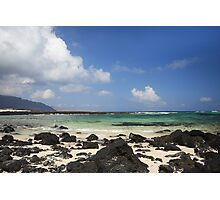 Beach in Lanzarote Photographic Print