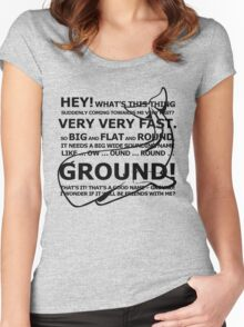 The Hitchhiker's Guide To The Galaxy Women's Fitted Scoop T-Shirt