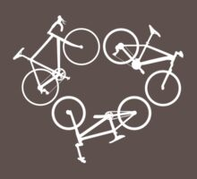 Bicycle triangle (white) by hellomrdave