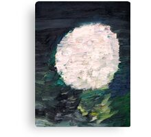 WHITE SPHERE Canvas Print