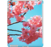 Beautiful Spring Pink Cherry Blossoms Blue Sky iPad Case/Skin