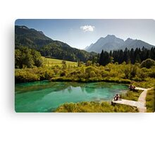 Natural Reserve Zelenci Slovenia Canvas Print