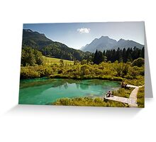 Natural Reserve Zelenci Slovenia Greeting Card
