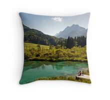 Natural Reserve Zelenci Slovenia Throw Pillow