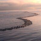 Lake Champlain - breakwater sunrise - 9.26.2013 by Nadia Korths